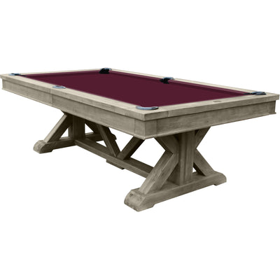 Playcraft Brazos River 8' Slate Pool Table with Optional Dining Top - Gaming Blaze