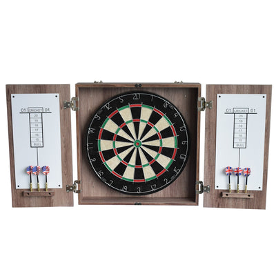 Hathaway Winchester Driftwood Dartboard Cabinet Set - Gaming Blaze