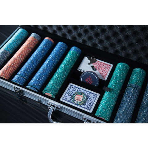 Image of BBO Poker Tables Casino De Paris 500 Piece Ceramic Poker Chip Set 10 gram - Game Tables
