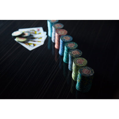 BBO Poker Tables Casino De Paris 500 Piece Ceramic Poker Chip Set 10 gram - Gaming Blaze