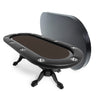 BBO Poker Tables Elite Black Oval Poker Table 10 Person - Gaming Blaze