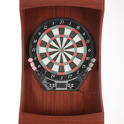 Hathaway Outlaw Free Standing Cherry Finish Dartboard Cabinet Set - Game Tables