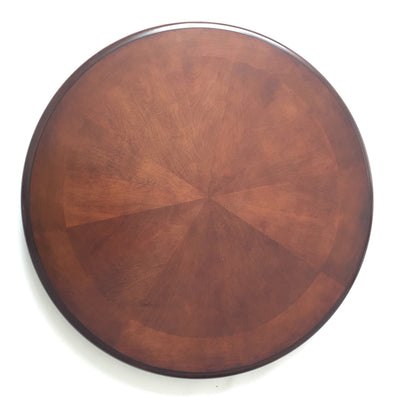 Hathaway Bridgeport Walnut Round Poker Dining Table with 4 Arm Chairs - Gaming Blaze
