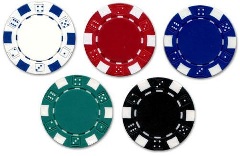JP Commerce Dice 500 Piece Casino Poker Chips Set 11.5 gram - Game Tables