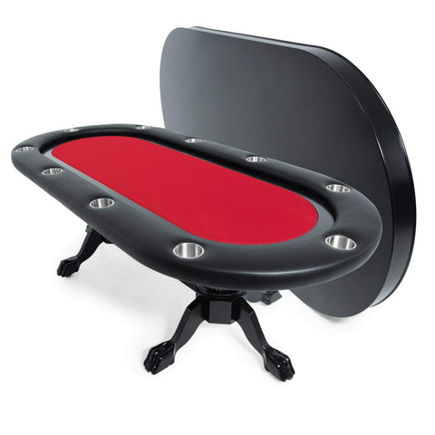BBO Poker Tables Elite Black Oval Poker Table 10 Person - Game Tables