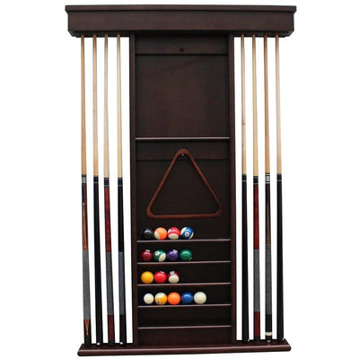Playcraft Premium Hardwood Billiard Wall Rack - Gaming Blaze