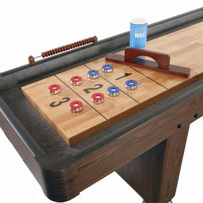 Hathaway Challenger Walnut 12ft Shuffleboard Table - Gaming Blaze