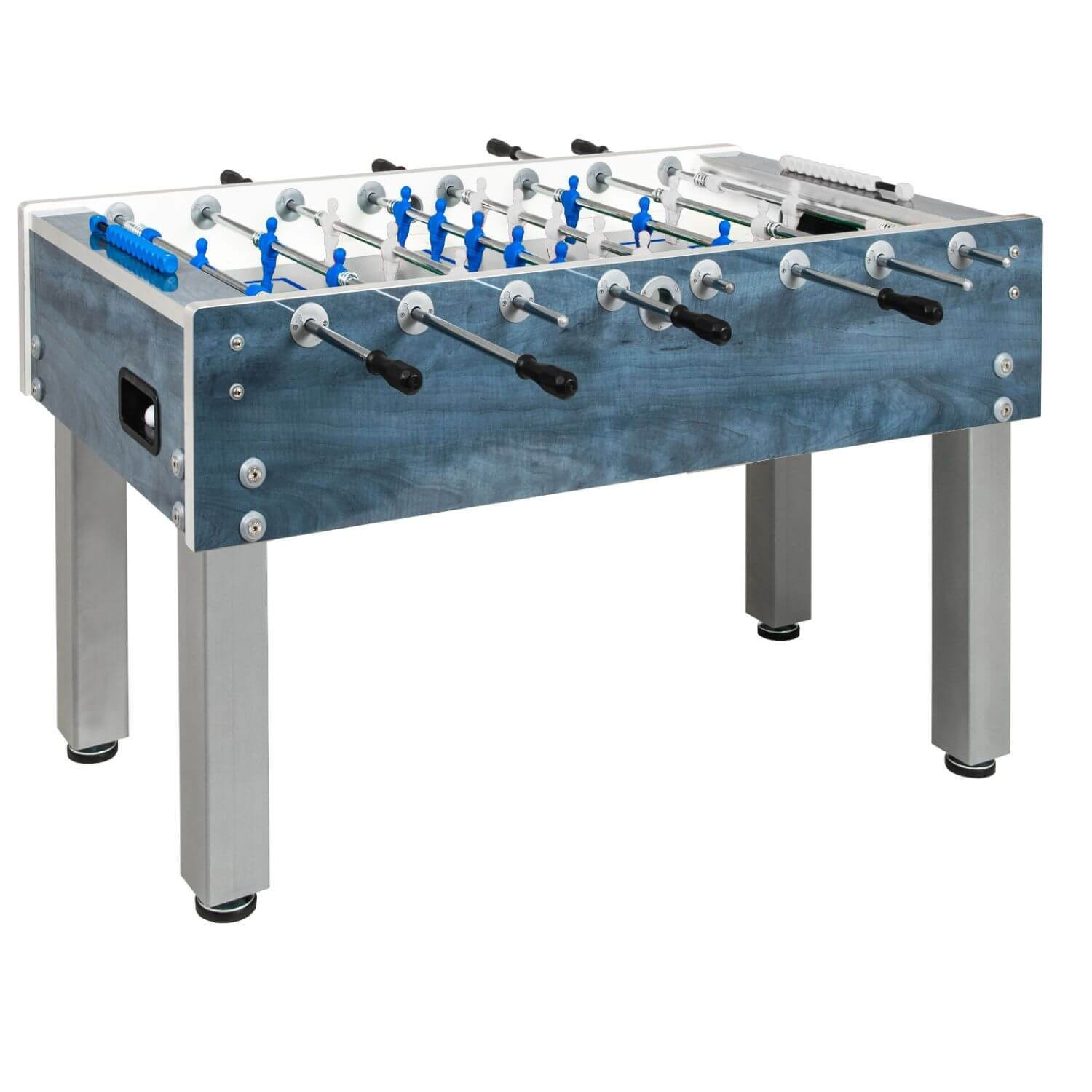 Garlando G-500 Weatherproof Blue Outdoor Foosball Table - Gaming Blaze