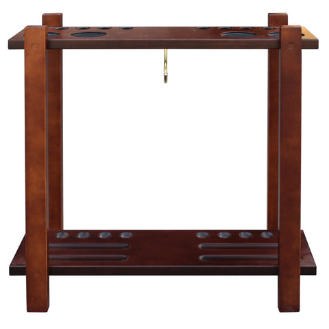 Hathaway Antique Walnut Pool Cue Rack  - Game Tables