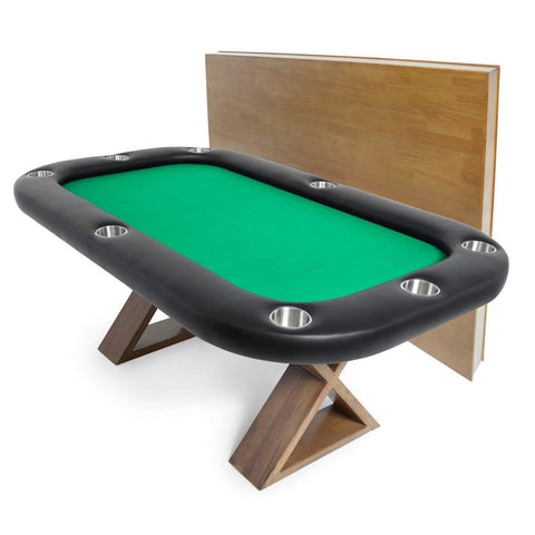 BBO Poker Tables Helmsley Dining Poker Table 8 Person with Dining Top - Game Tables