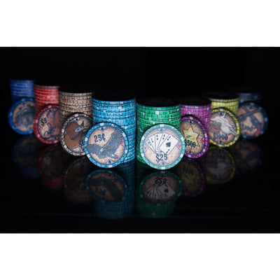 BBO Poker Tables Howdy Cowboy 500 Piece Ceramic Poker Chip Set 10 gram - Gaming Blaze