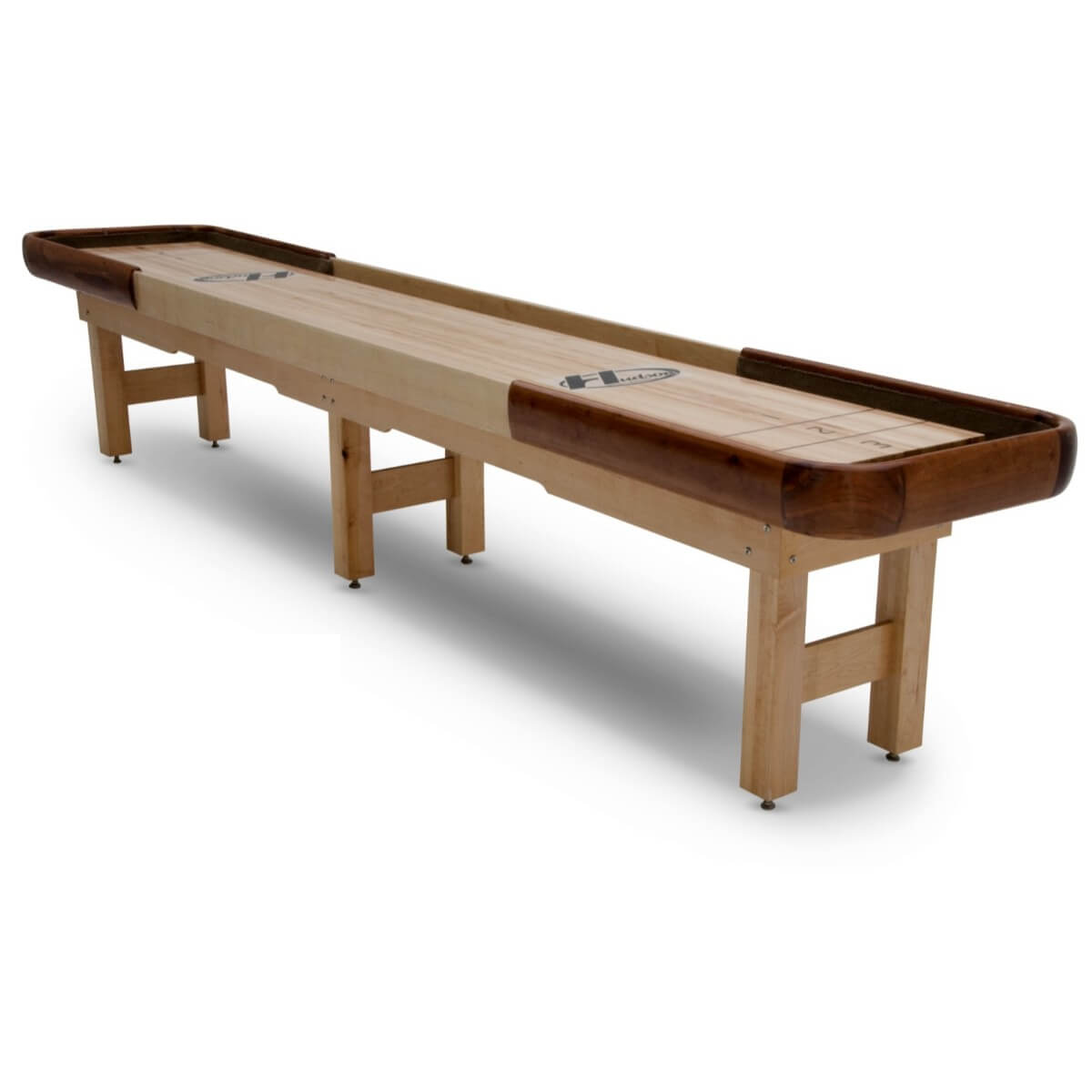 Hudson Cirrus Shuffleboard Table 9'-22' Indoor/Outdoor with Custom Wood Options - Gaming Blaze