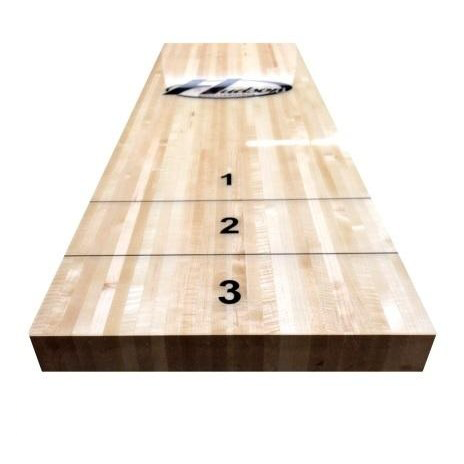 "Hudson Shuffleboards 3"" Thick Hard Rock Maple Shuffleboard Butcher Block Plank - Gaming Blaze"
