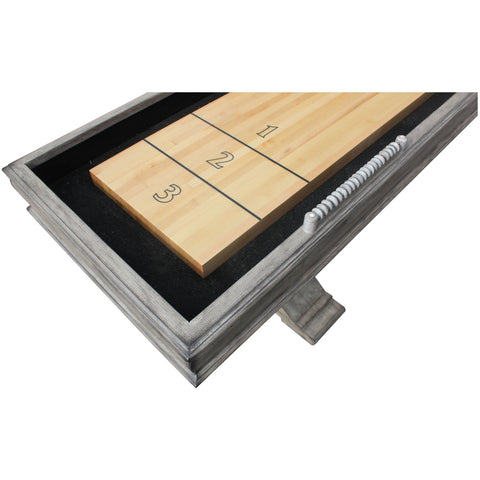 Image of Hathaway Montecito Driftwood 12ft Shuffleboard Table - Gaming Blaze