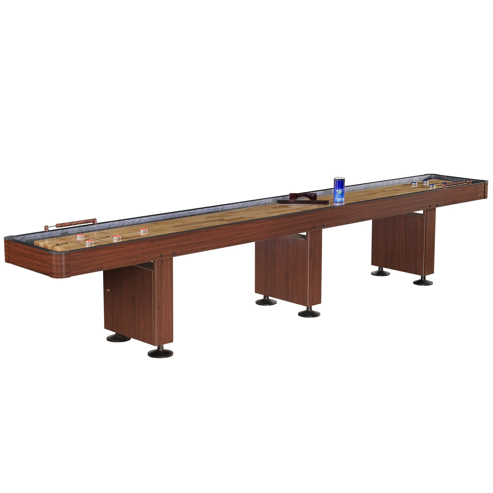 Hathaway Challenger Dark Cherry 14ft Shuffleboard Table - Gaming Blaze