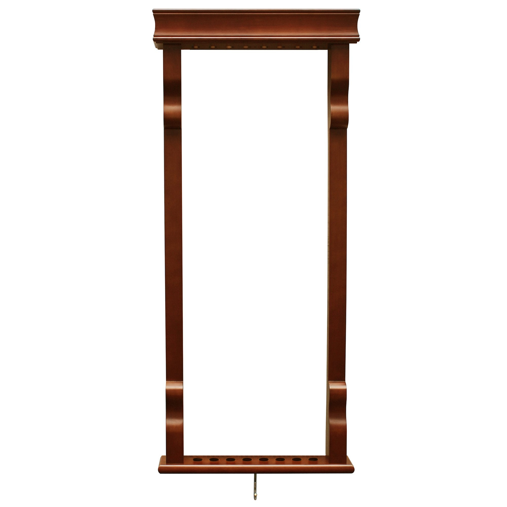 Hathaway Antique Walnut Pool Cue Rack - Gaming Blaze