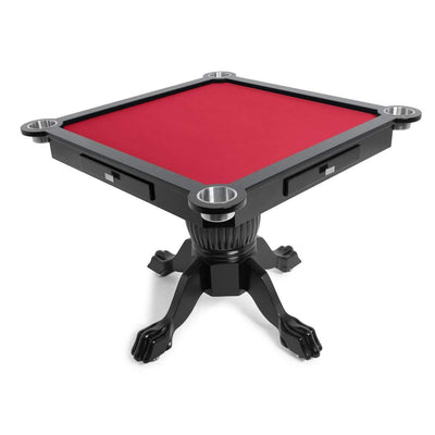 BBO Poker Tables Levity Black Square Poker Game Table 4 Person  - Gaming Blaze