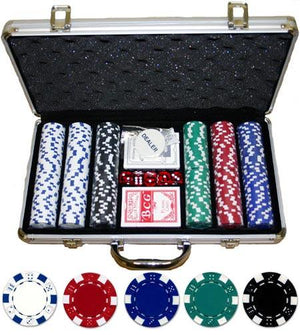JP Commerce Dice 300 Piece Casino Poker Chip Set 11.5 gram - Game Tables