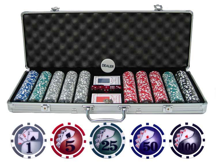 JP Commerce Yin Yang 500 Piece Clay Poker Chip Set 13.5 gram - Gaming Blaze