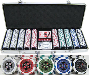 JP Commerce Ultimate 500 Piece Casino Poker Chip Set 13.5 gram - Game Tables