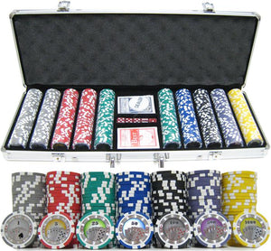 JP Commerce Casino Royale 500 Piece Clay Poker Chip Set 13.5 gram - Game Tables