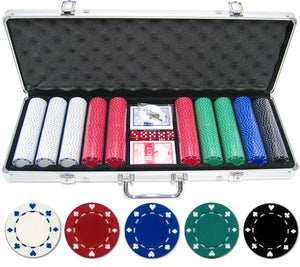 JP Commerce Suited 500 Piece Casino Poker Chips Set 11.5 gram - Game Tables