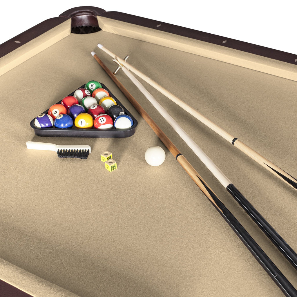 Non Slate Pool Table 8ft Walnut Finish Augusta By Hathaway