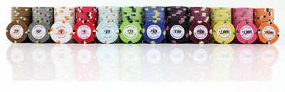JP Commerce Monaco 500 Piece Clay Poker Chip Set 13.5 gram - Gaming Blaze
