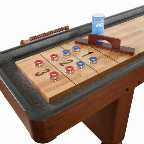 Hathaway Challenger Dark Cherry 14ft Shuffleboard Table - Game Tables