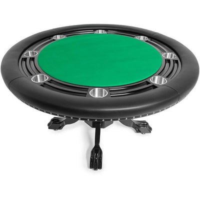 BBO Poker Tables Nighthawk Black Round Poker Table 8 Person - Gaming Blaze