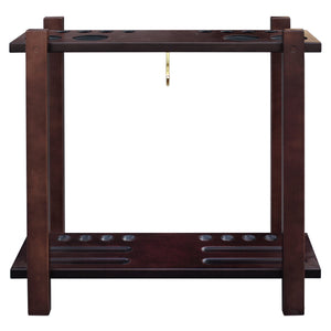 Hathaway Rich Mahogany Classic Pool Cue Rack  - Game Tables