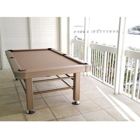 Image of Imperial 8ft Outdoor Pool Table All Weather with Playing Accessories - Gaming Blaze