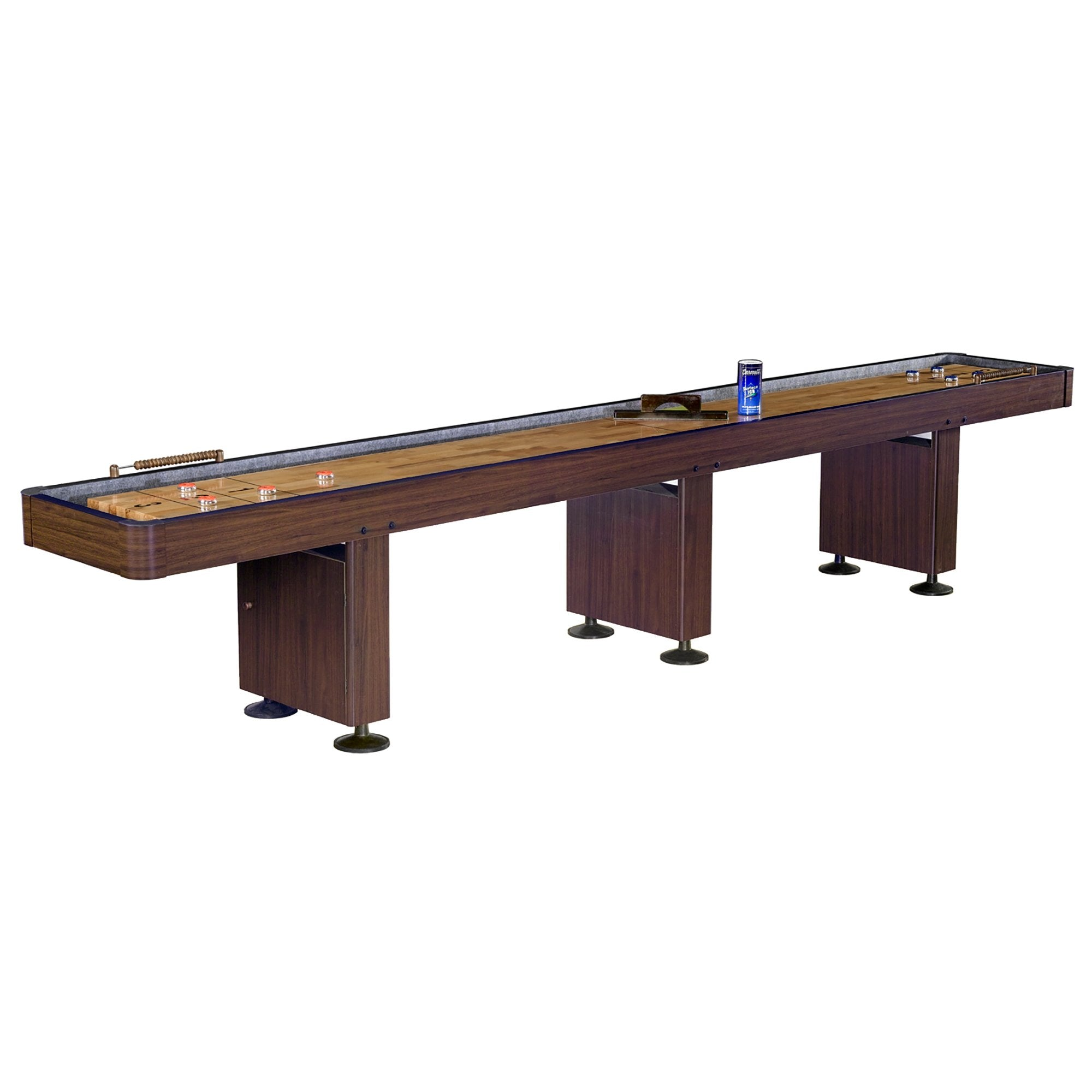 Hathaway Challenger Walnut 14ft Shuffleboard Table - Gaming Blaze