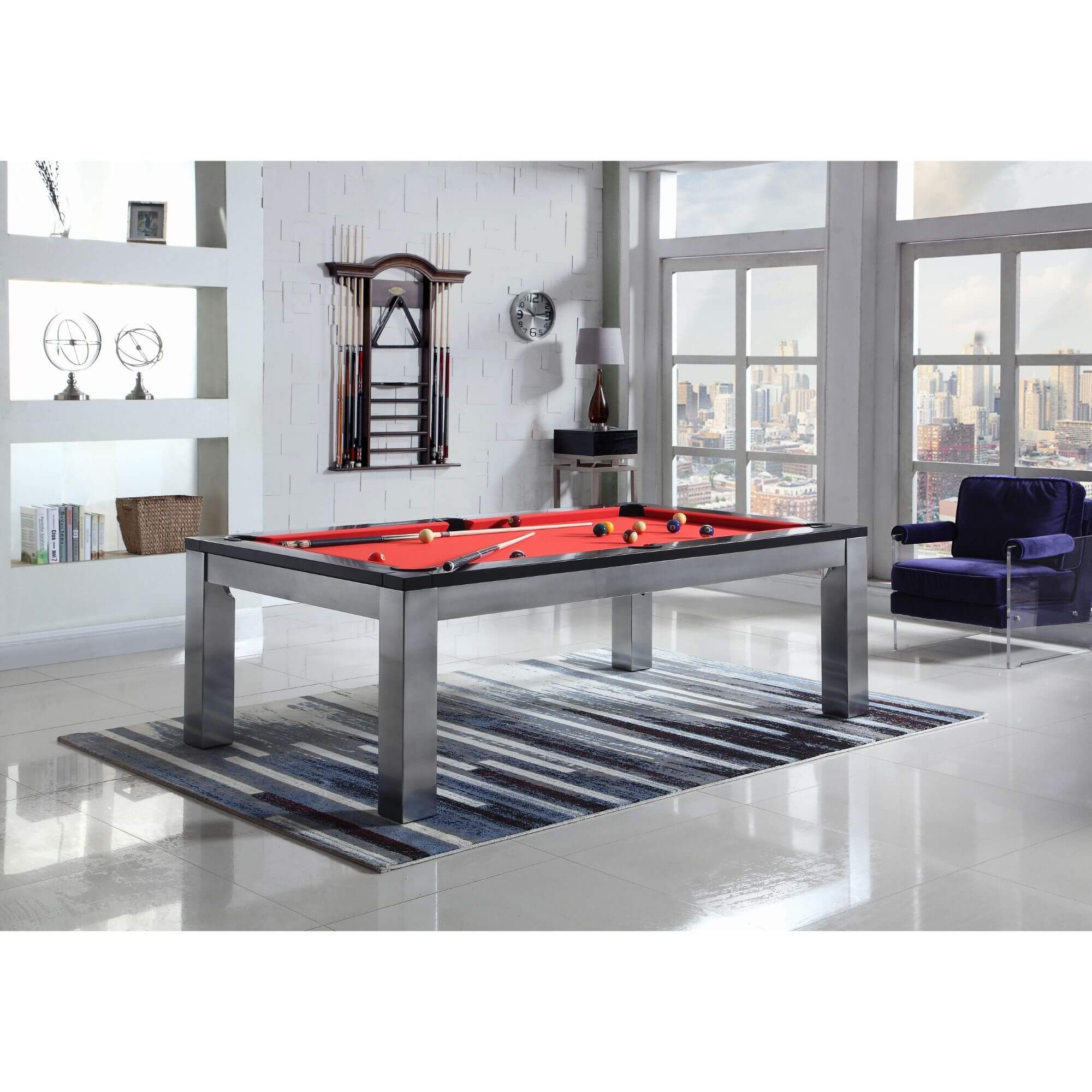 Playcraft Monaco Slate Pool Table with Dining Top - Gaming Blaze