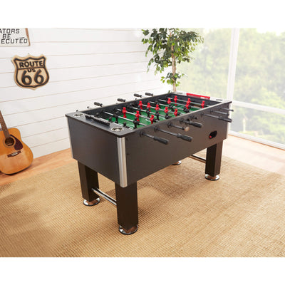 Playcraft Pitch Foosball Table Charcoal Finish - Gaming Blaze