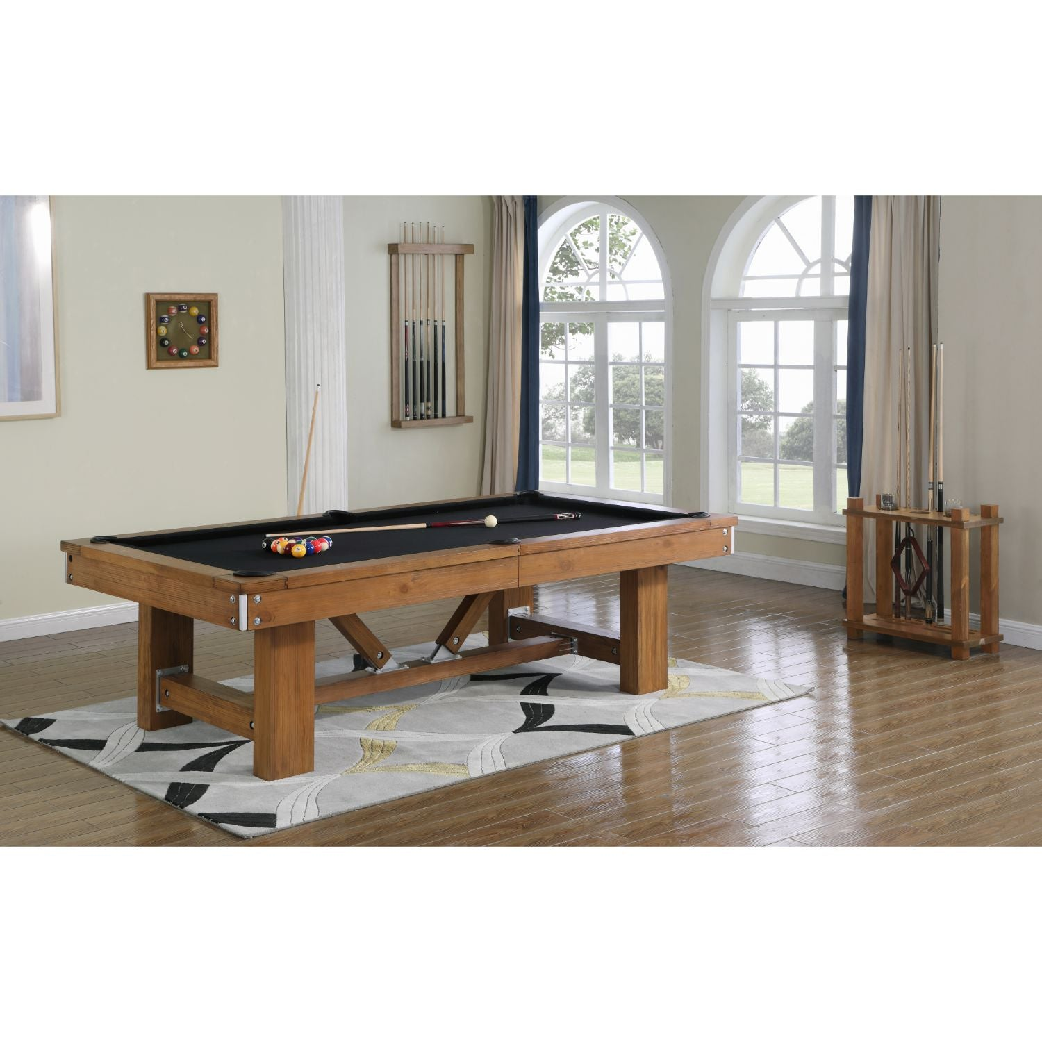 Playcraft Willow Bend Slate Pool Table with Optional Dining Top & Bench - Gaming Blaze