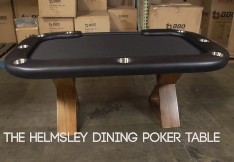 Image of BBO Poker Tables Helmsley Dining Poker Table 8 Person with Dining Top - Game Tables