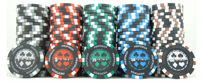 JP Commerce Pro Poker 500 Piece Clay Poker Chip Set 13.5 gram - Gaming Blaze