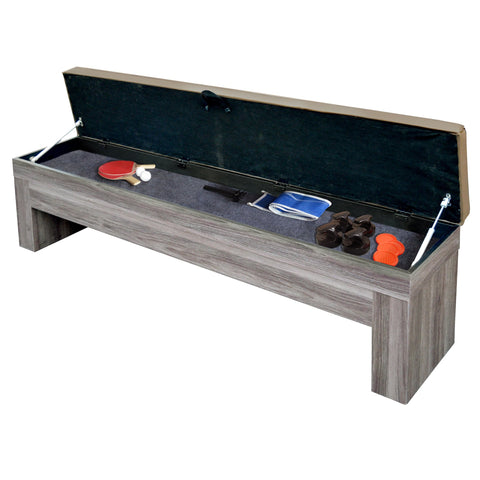 Image of Hathaway Driftwood 7ft Multi Game Table 3 in 1 with Dining Top & Benches  - Gaming Blaze