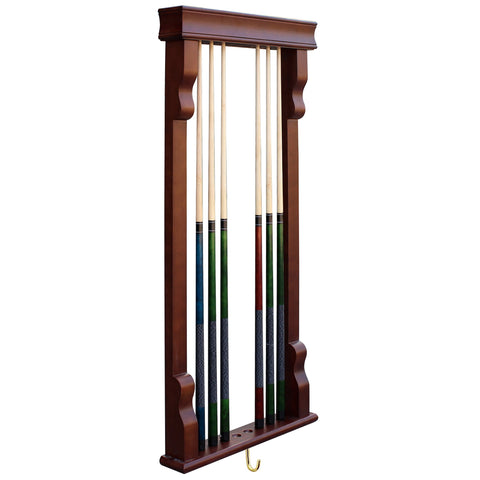 Hathaway Rich Mahogany Vintage Pool Cue Rack  - Game Tables