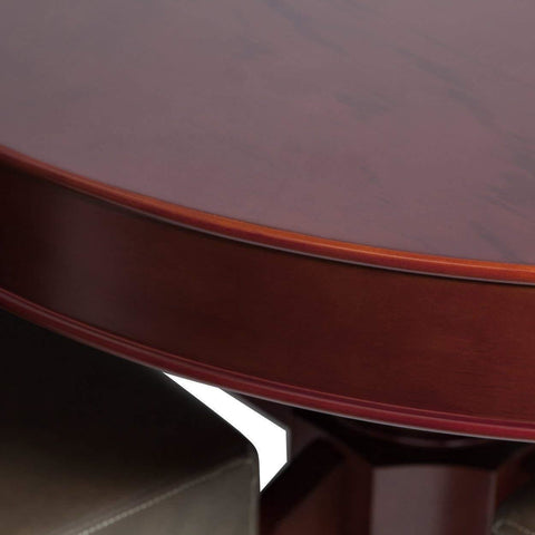 Image of BBO Poker Tables Rockwell Mahogany Oval Poker Table 10 Person - Game Tables