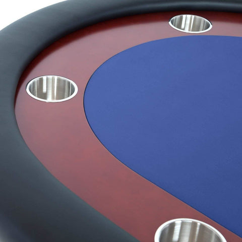 BBO Poker Tables Rockwell Mahogany Oval Poker Table 10 Person - Gaming Blaze