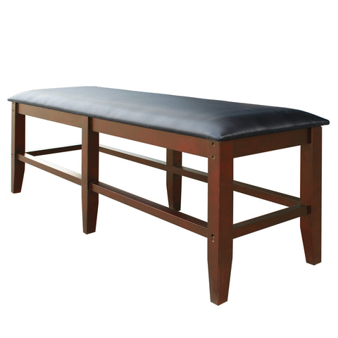 Hathaway Unity Antique Walnut Finish Spectator Storage Bench - Game Tables