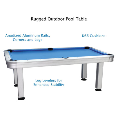 Imperial 7ft Outdoor Pool Table All Weather with Playing Accessories - Gaming Blaze