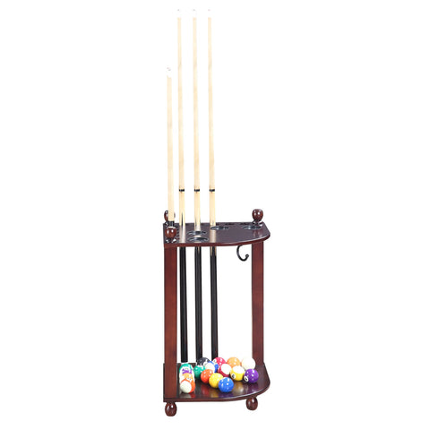 Image of Hathaway Regent Mahogany Pool Corner Cue Rack  - Game Tables