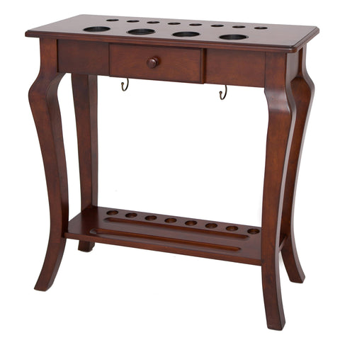 Hathaway Deluxe Walnut Pool Cue Rack  - Game Tables