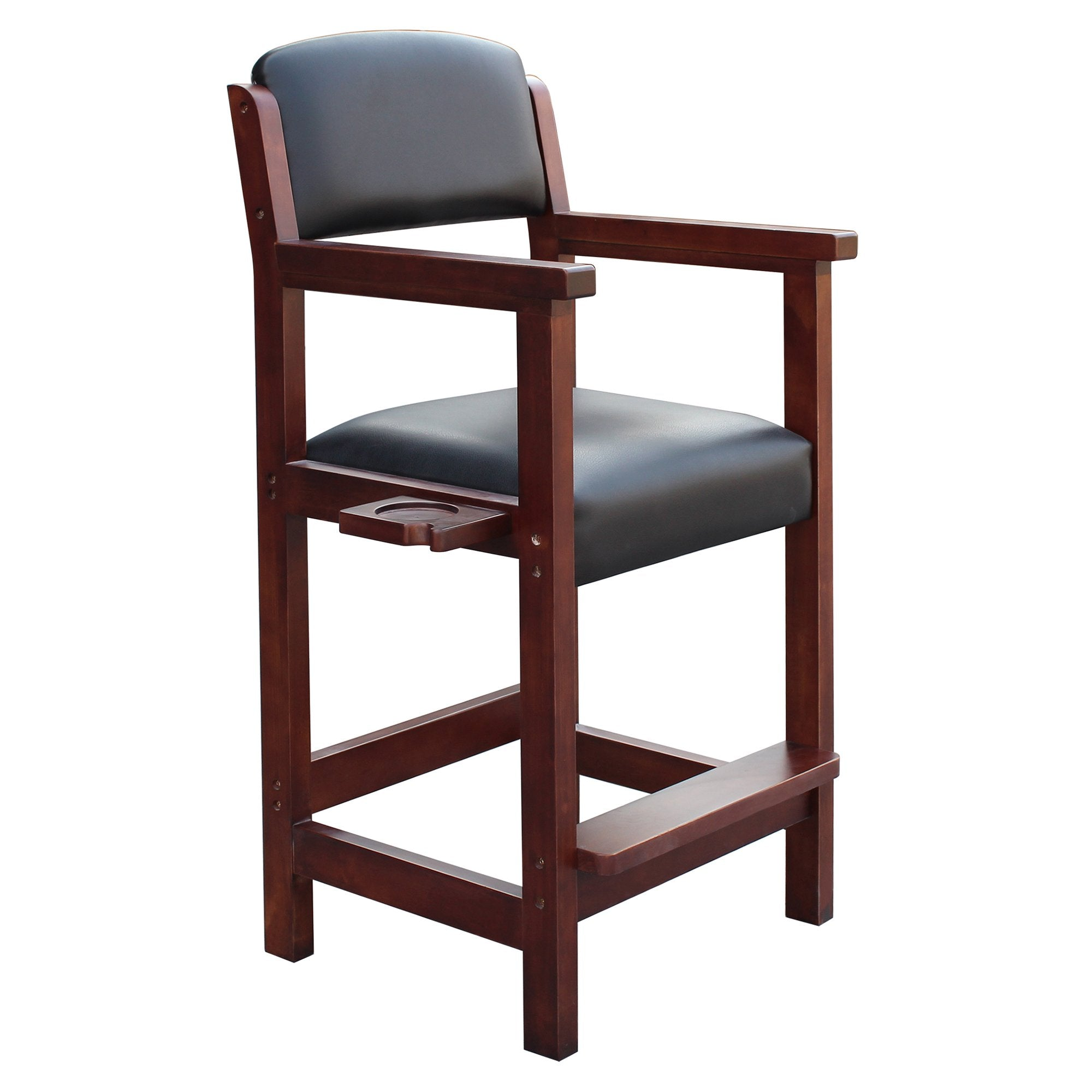 Hathaway Cambridge Antique Walnut Finish Spectator Chair - Gaming Blaze