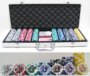 JP Commerce High Roller 500 Piece Clay Poker Chip Set 13.5 gram - Game Tables