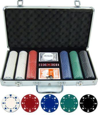 JP Commerce Suited 300 Piece Casino Poker Chip Set 11.5 gram - Game Tables