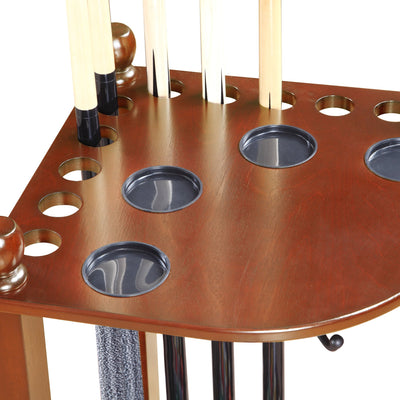 Hathaway Regent Walnut Pool Corner Cue Rack - Gaming Blaze